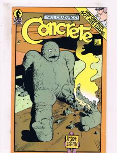 Paul Chadwicks Concrete #4 VF Dark Horse comics Comic Book 1987 DE25
