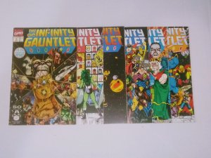 Infinity Gauntlet #1-6 complete set (avg 8.5-9.0) #1 signed by Jim Starlin