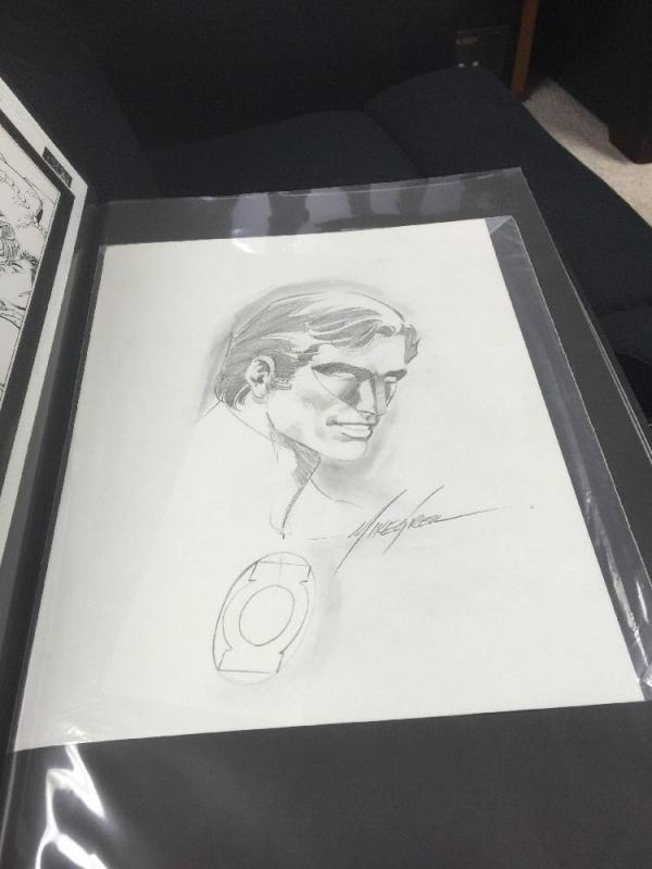 Original Art Commission By Mike Grell Feat. Hal Jordan The Green Lantern 11x17