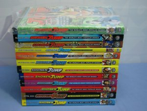 SHONEN JUMP LOT 12 ISSUES COMIC BOOKS RARE JAPANESE ENGLISH TEXT L@@K