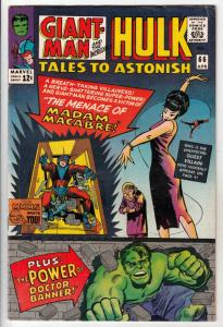Tales to Astonish #66 (Apr-65) VF+ High-Grade Incredible Hulk, Giant Man, Wasp