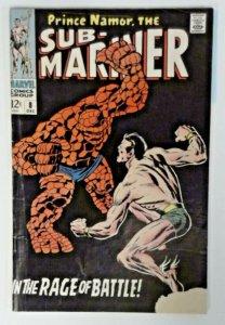 SUB-MARINER #8 GD  1968   Roy Thomas  John Buscema  Rage of Battle  The Thing