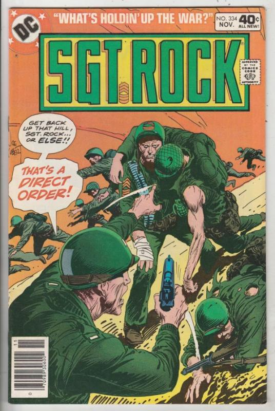 Sgt. Rock #334 (Nov-79) NM- High-Grade Sgt. Rock