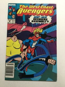 The West Coast Avengers 46 Nm Newsstand 1st First Great Lakes Avengers Marvel