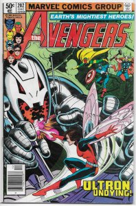 Avengers   vol. 1   #202 VG Michelinie/Perez, Ultron, Vision, Scarlet Witch