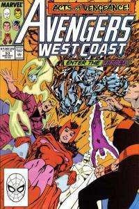 Avengers West Coast #53, VF+ (Stock photo)