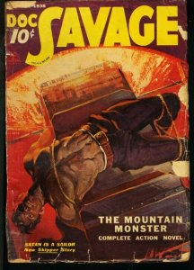 DOC SAVAGE 1938 FEB-RARE STREET AND SMITH PULP G