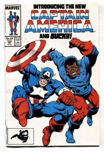 Captain America #334 comic book 1987-New Cap and Bucky--Marve NM-