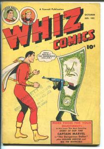 WHIZ #102 1948-FAWCETT-CAPT MARVEL-GOLDEN ARROW-WOLVERTON-IBIS-vg