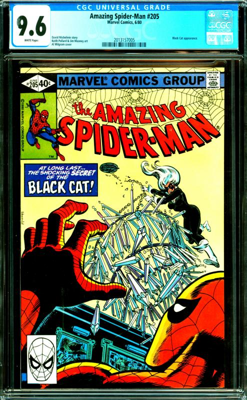 Amazing Spider-Man #205 CGC Graded 9.6 Black Cat Appearance