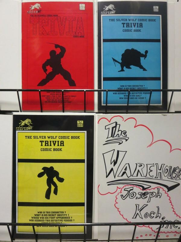 SILVER WOLF TRIVIA COMIC BOOK (1987 SW) 1-3  COMPLETE!