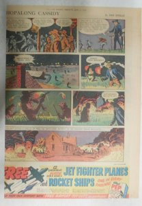 Hopalong Cassidy Sunday Page by Dan Spiegle from 6/22/1952 Size: 11 x 15 inches