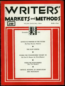 Writer's Markets and Methods December 1935- Pulp Magazines VG