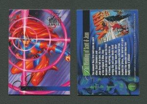 1995 Flair Marvel Annual Card #1 (Jean Grey)  MINT
