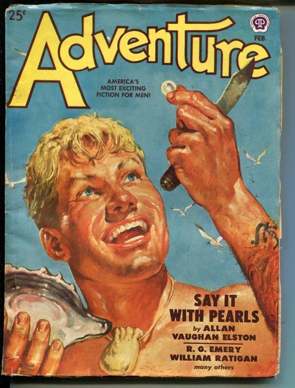 Adventure 2/1949-Popular-pulp fiction-L. Stern Stevens-FN