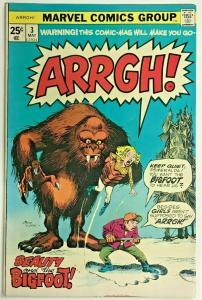 ARRGH!#3 FN/VF 1975 MARVEL BRONZE AGE COMICS