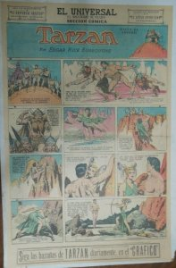 Tarzan Sunday Page #607 Burne Hogarth from 10/25/1942 in Spanish! Full Page Size