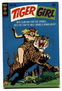 TIGER GIRL #1 1968-GOLD KEY-1st ISSUE-TIGER COVER VG