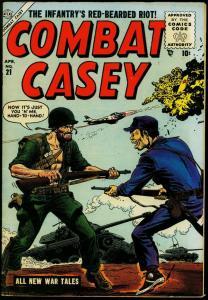 Combat Casey #21 1955- Korean War- Atlas Comics- commies FN/VF