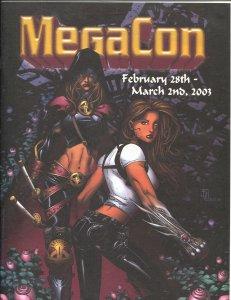 MegaCon Program Book 2003-Good Girl art cover-guest & artist bios-G/VG