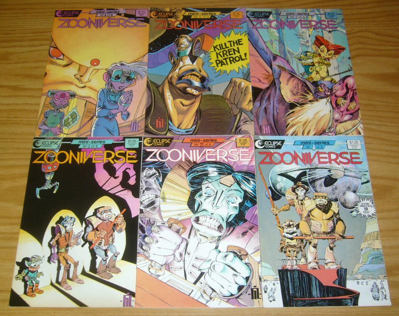 Zooniverse #1-6 VF/NM complete series - eclipse comics anthropomorphics 2 3 4 5