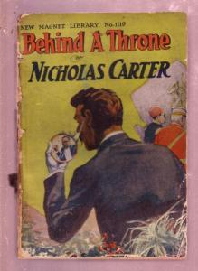 NEW MAGNET LIBRARY-#1119-BEHIND A THRONE-NICK CARTER FR