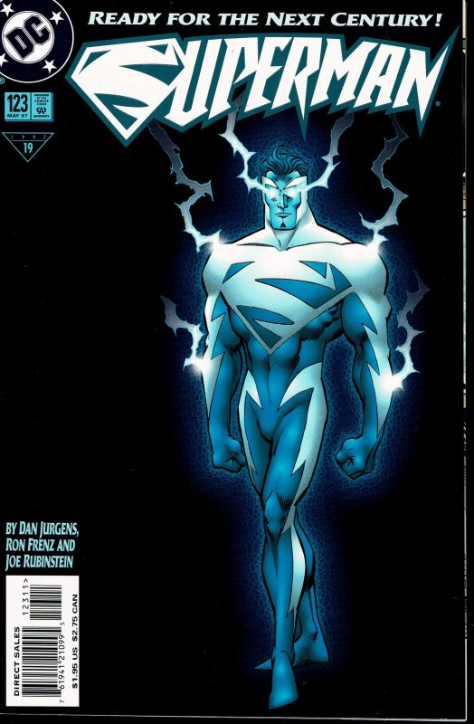 Superman #123 - NM - 1st Electric Blue Superman - Glow in the Dark Cover