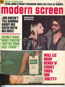 Modern Screen-John Wayne-Barbra Streisand-Kirk Douglas-Feb-1975