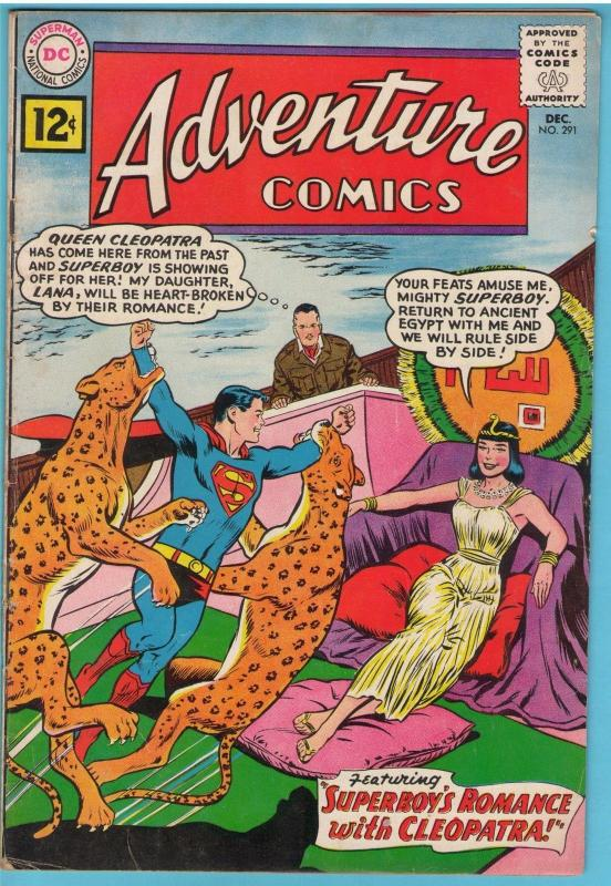 Adventure Comics 291 Dec 1961 FI- (5.5)