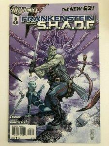 FRANKENSTEIN AGENT OF S.H.A.D.E. #3 The New 52 DC Comics 2011 NM