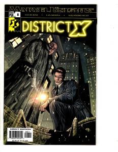 Lot Of 7 District X Marvel Comic Books # 8 9 10 11 12 13 14 X-Men Wolverine CR39