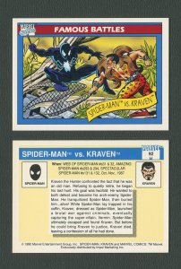 1990 Marvel Comics Card  #92 (Spiderman/Kraven) / MINT