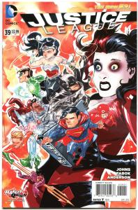 JUSTICE LEAGUE #39, NM, Harley Quinn, 2011, New 52, Variant, more HQ in store