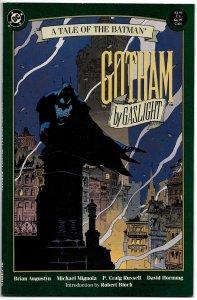 BATMAN : GOTHAM BY GASLIGHT (1989) 8.5VF+  Mike Mignola and P. Craig Russell!
