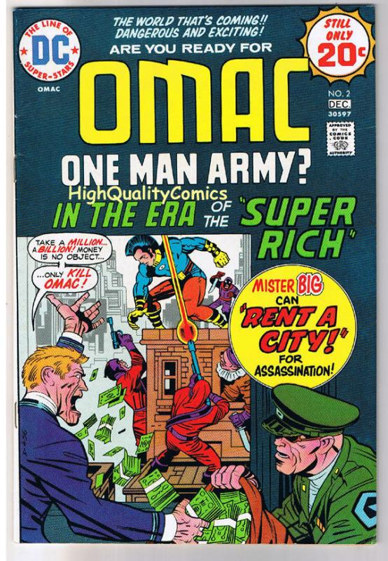 OMAC #2, VF-, Jack Kirby, One Man Army Corp, 1974, more JK in store,Bronze age