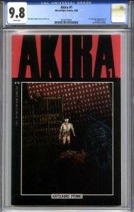 AKIRA #1 CGC 9.8 (1st print) 1st american appearance of Kaneda & Tetsuo