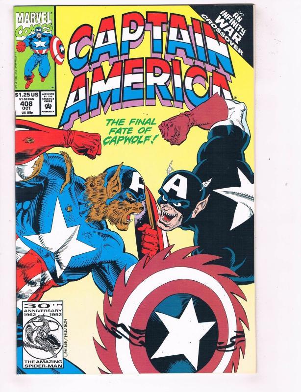 Captain America 1968 1st Series 408 Marvel Comic Book Infinity