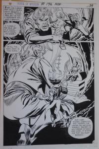GIL KANE / FRANK GIACOIA original art, HOUSE of MYSTERY #196, pg 39, 11x16, 1971