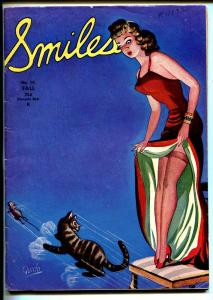 Smiles #16 Fall 1945-pin-up girl cover by Guido-color cartoons-pulp fiction-VG
