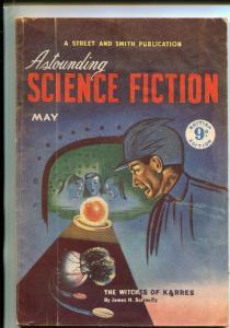 ASTOUNDING SCIENCE FICTION-05/1950-HUBBARD-J D MACDONALD-BROWN-BRITISH-PULP-vg