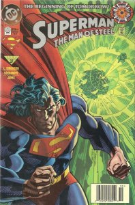 Superman: The Man of Steel #0 (Newsstand) FN; DC   save on shipping - details in