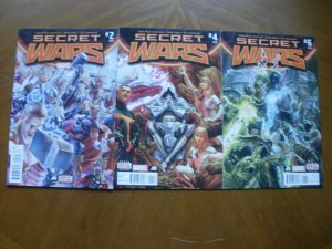 3 Near-Mint Marvel SECRET WARS #2 #4 #6 (2015) Hickman Ribic (Battleworld Doom)