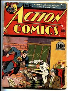 ACTION COMICS #32-SUPERMAN-1941-DC Electric chair cover!