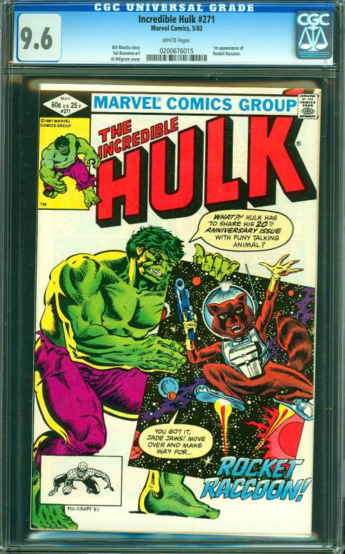 Incredible Hulk #271 CGC Graded 9.6 Rocket Raccoon 1st Appearance