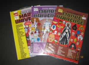 SET of 3!! Official Handbook- MARVEL UNIVERSE MASTER EDITION#11-13 VF/NM(SIC319)