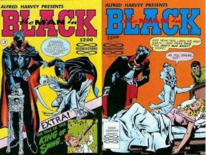 MAN IN BLACK (1990 RECOLLECTIONS) 1-2 BOB POWELL reprs. COMICS BOOK