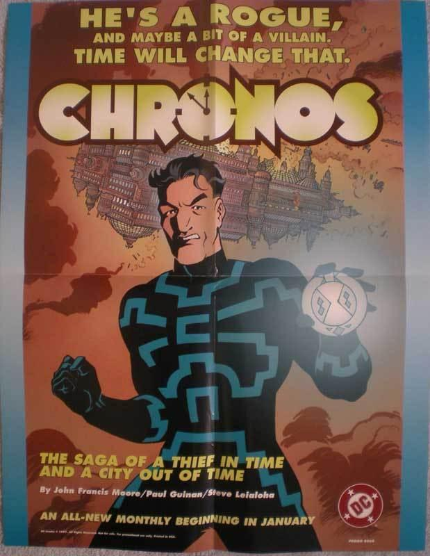 CHRONOS Promo poster, 17 x 22, 1997, Unused, more in our store