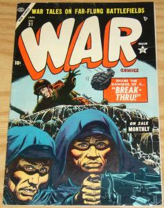 War Comics #31 FN january 1955 - russ heath cover - gene colan - atlas comics