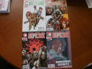4 DDP Aftermath DEFEX Comic #1 #2 #3 #4 Dangerous Secrets (2004) Wolfman Caselli