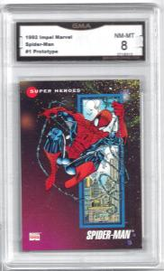 1992 Impel Marvel Spider-Man #1 Prototype Card - Graded 8